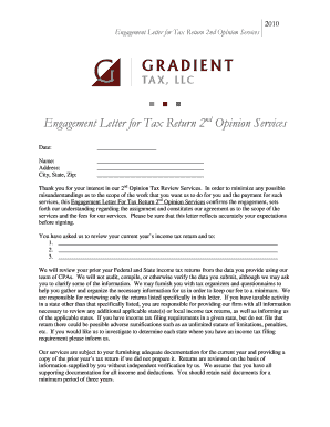 Client Engagement Letter for 2nd Opinion Services.doc