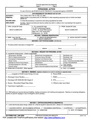 Fillable Online J-DA Form 4187 Personnel Action.pdf - Alabama ...