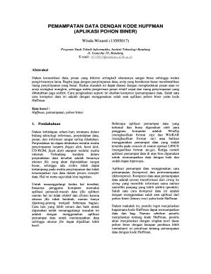 Contoh Kompresi Huffman Pohon Biner - Fill Online, Printable ...