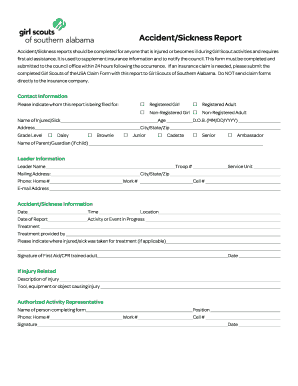 workplace accident report form - Fillable & Printable Online