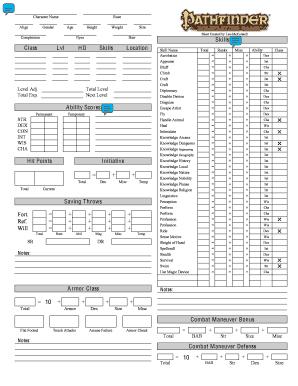 Fillable Online www-usr inf ufsm Custom Pathfinder Character Sheet ...