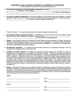15 Printable Bill Of Sale Personal Property Forms And