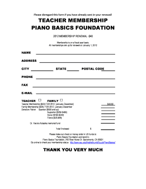 Join Suzuki Piano Basics Foundation: Membership Form - core ecu