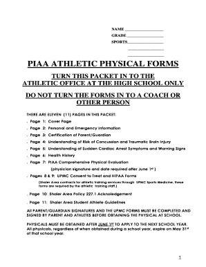 athletic physical form - Fillable Form Samples to Submit in