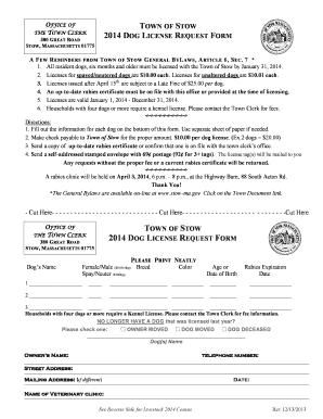 Dog License Application Massachusetts Related Keywords