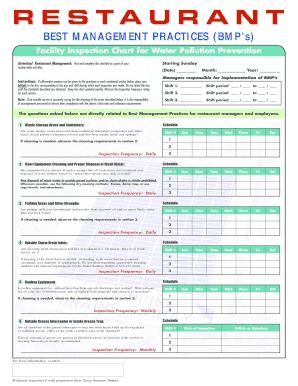 restaurant kitchen cleaning checklist
