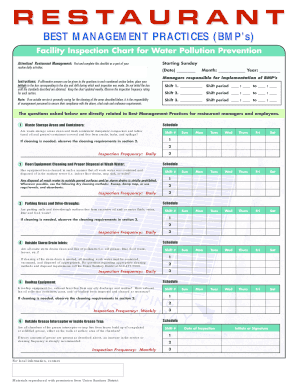 Restaurant Kitchen Management Forms restaurant inspection checklist - fill online, printable, fillable