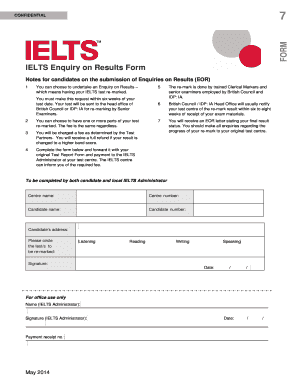 Fillable Online IELTS Payment Form pdf. - Bow Valley College Fax ...