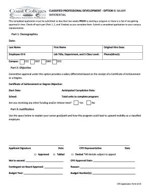 Clified Professional Development Option Ii Salary