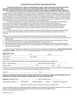 Fillable online the purpose of this form is to obtain your for Motor vehicle records check