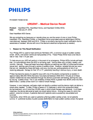 Fillable Online URGENT Medical Device Recall - The Mikey
