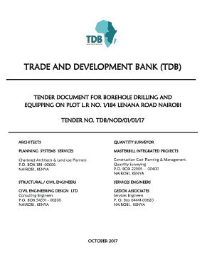 Fillable Online TRADE AND DEVELOPMENT BANK (TDB) Fax Email