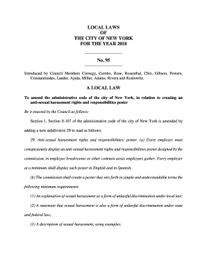 Fillable Online local law 85 - NYC gov Fax Email Print