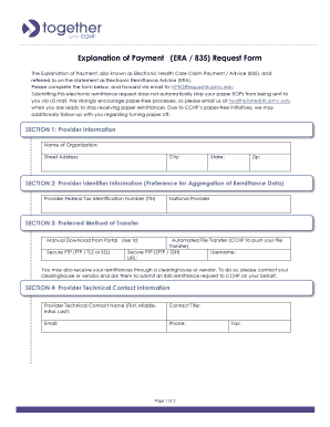 Fillable Online TOG Provider Form - Explanation of Payment  docx Fax