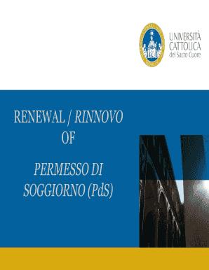 Fillable Online PERMESSO DI SOGGIORNO - UCSC International ...