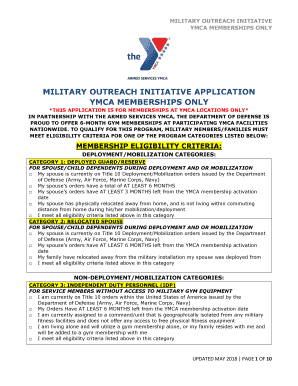 Fillable Online military outreach initiative application ymca