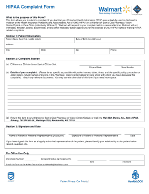 Walmart Complaint Form Fill And Sign Printable Template