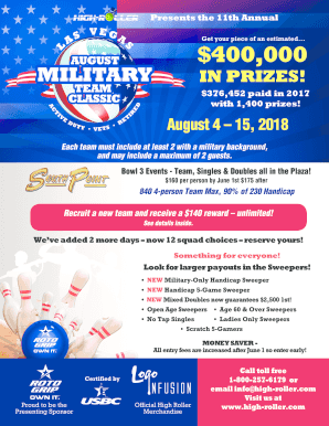 Fillable Online 2018 August Military Team Classic Entry Form