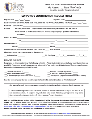 Fillable Online Corporate Contribution Request Form