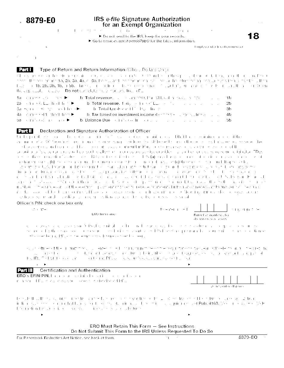 Form 8879-EO