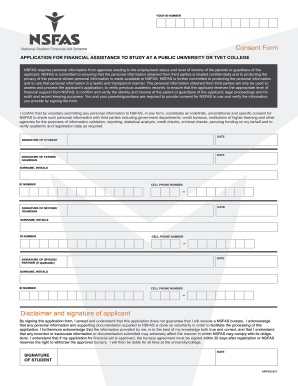 Nsfas Consent Form - Fill Online, Printable, Fillable ...