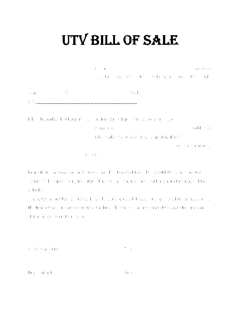 Bill Sale Template from www.pdffiller.com