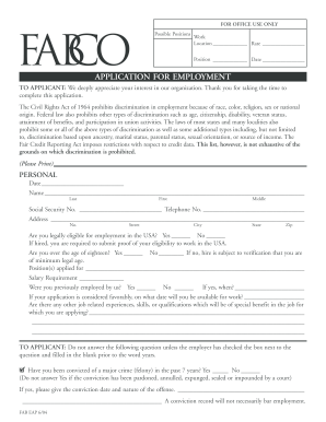 Fillable Online Fabco Employment App p65 Fax Email Print