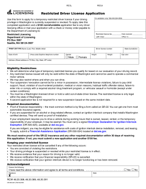 2018 Form WA DR-500-001 Fill Online, Printable, Fillable, Blank