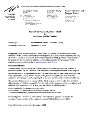 Request For Proposal Letter Of Intent from www.pdffiller.com