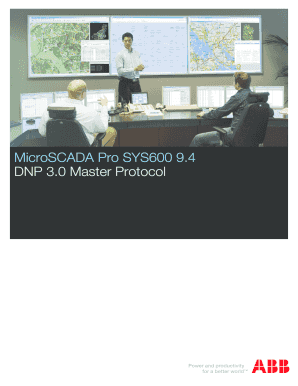 Fillable Online DNP 3 0 Master Protocol Fax Email Print