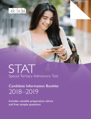 Stat candidate information booklet.