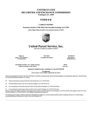 Fillable Online United Parcel Service, Inc  - UPS Investor