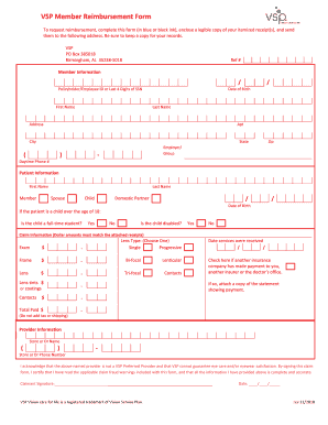 Vsp Reimbursement Form 2020 Fill Online Printable Fillable