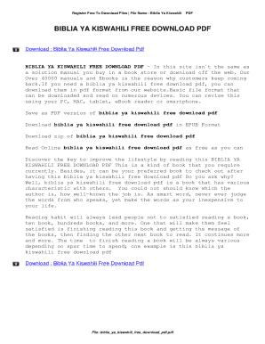Fillable Online Biblia Ya Kiswahili Free Download Pdf Biblia Ya Kiswahili Free Download Pdf Fax Email Print Pdffiller