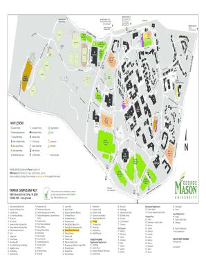 george mason fairfax campus map Fillable Online Fairfax Campus Map Key George Mason University george mason fairfax campus map