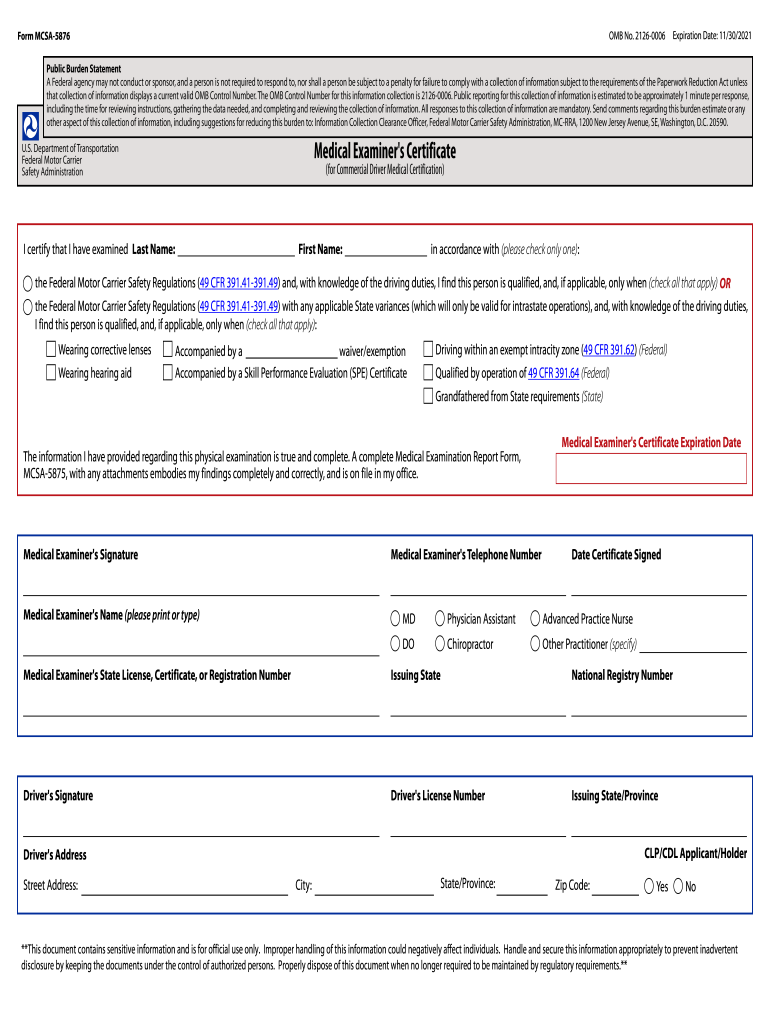 photo about Mcsa-5875 Printable Form identified as 2021 Style MCSA-5876 Fill On-line, Printable, Fillable, Blank