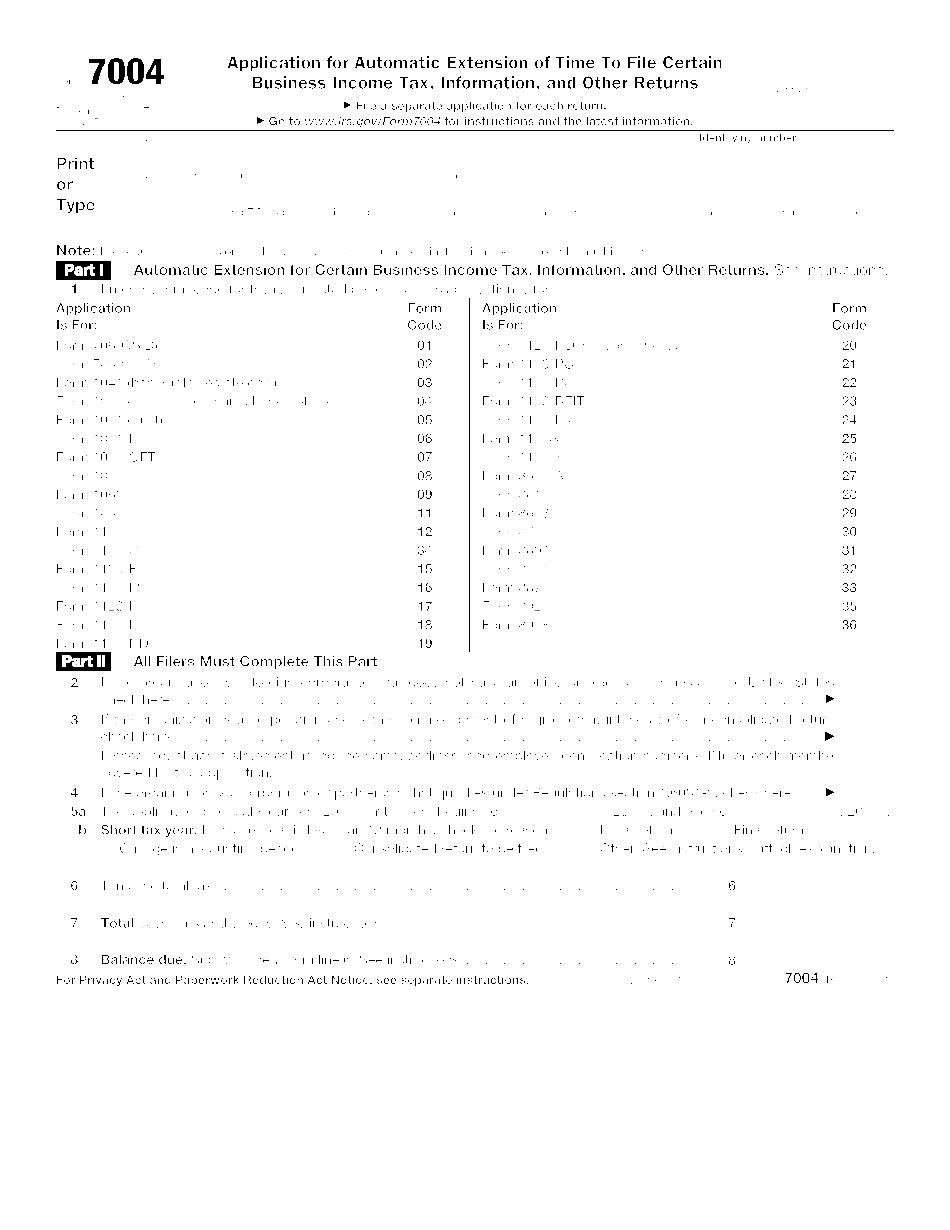 form 7004 2018