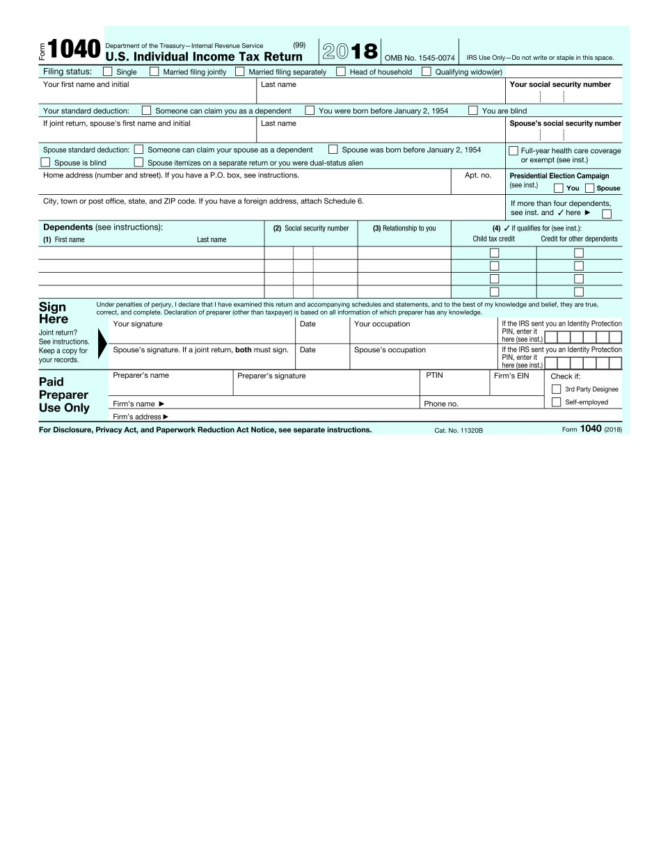 form 1040ez instructions