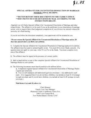 Special affidavit for uncontested dissolution fill online special affidavit for uncontested dissolution solutioingenieria Gallery