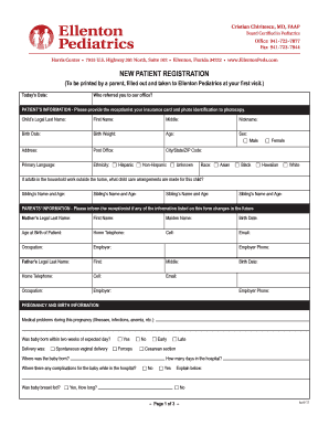new patient forms template
