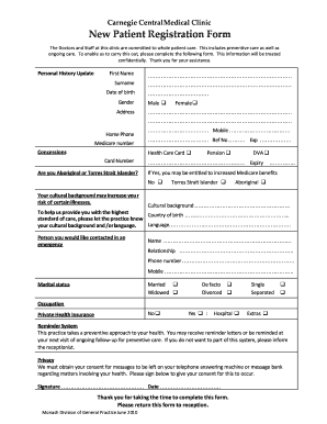 Registration Form For Medical Clinic - Fill Online, Printable ... on new patient charting, new patient form template, blank patient information forms, insurance medical forms, new patient admissions, medical triage forms, new patient information form, patient health forms, patient info forms, printable doctor fill out forms, new patient signs, hipaa patient consent forms, new baby medical forms, new patient intake form, blank medical history forms, printable nursing assessment forms, surgery medical forms, physical medical forms, diagnosis medical forms, emergency medical forms,