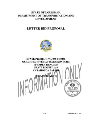 Bid Proposal Letter  Bid Proposal Letter