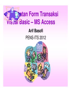Form Tabel Vb6 Acces Tentang Penjualan - Fill Online