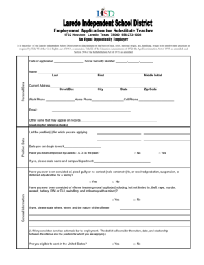 substitute teacher application