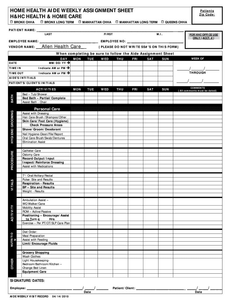 Cna Assignment Sheet Templates - Fill Online, Printable, Fillable Inside Nursing Assistant Report Sheet Templates