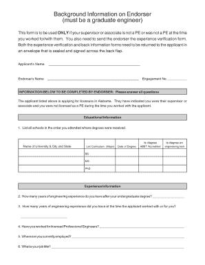 Background Verification Form Sample