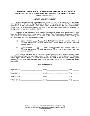 Money Agreement Oregon Fill Online Printable Fillable Blank