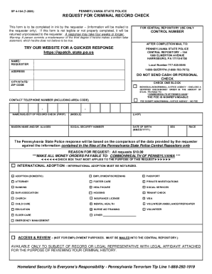 Pa Criminal Record Clearance Form - Fill Online, Printable ...