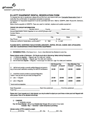 Fillable Free Equipment Rental Agreement Form Template