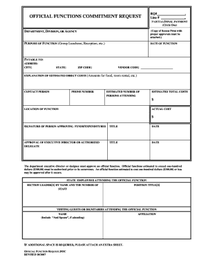 Function Sheet Template For Event